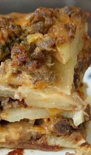 Meat n Potatoe Casserole