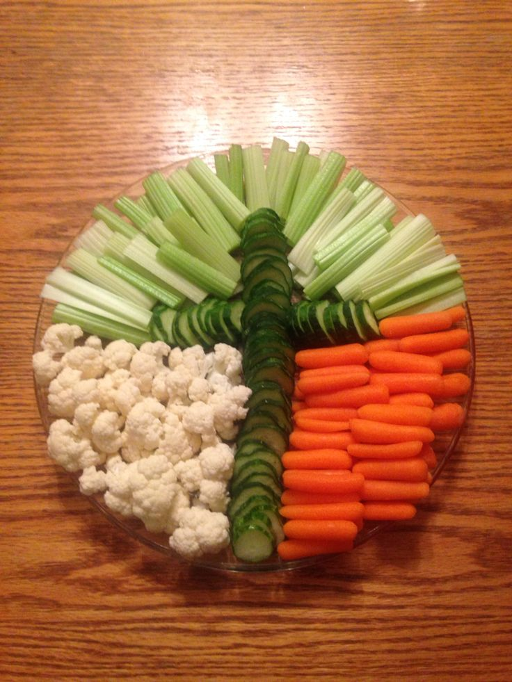 Vegetable tray for Easter.  Focusing on the TRUE meaning - Jesus is alive!  He was crucified, buried and is risen....
