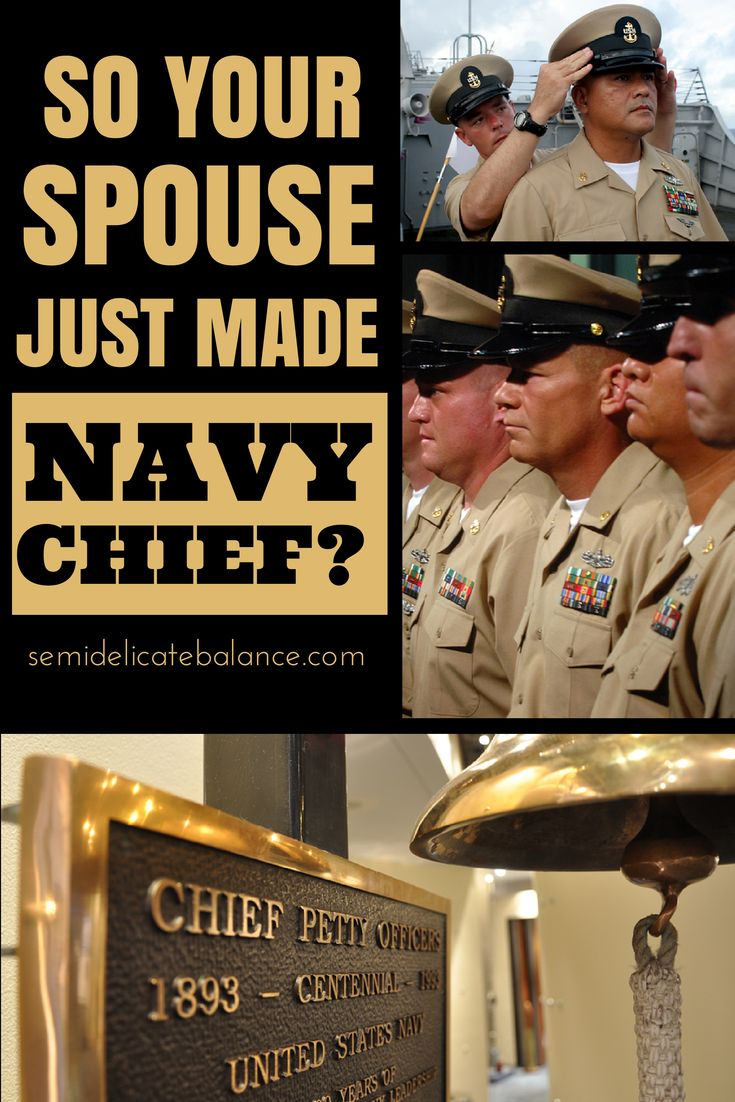 So Your Husband Just Made Navy Chief?