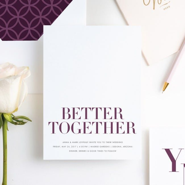 Ampersand Wedding Invitations | Paper Culture