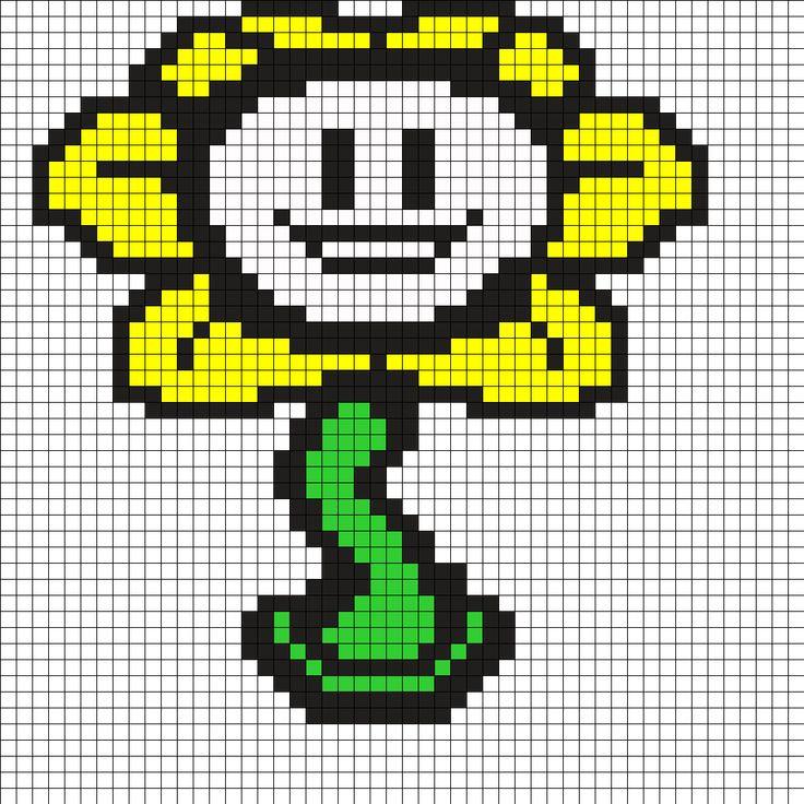 pixel art undertale flowey