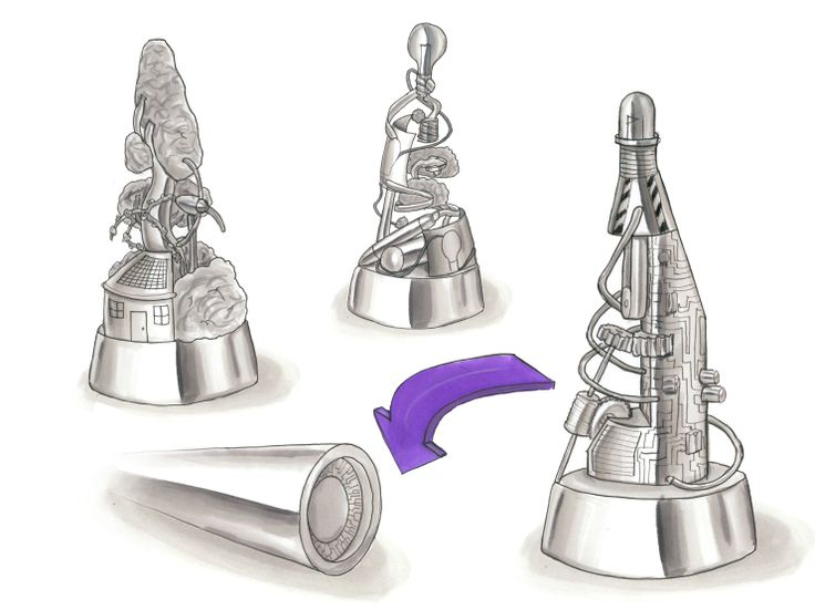 Sketches of design trophy ideas