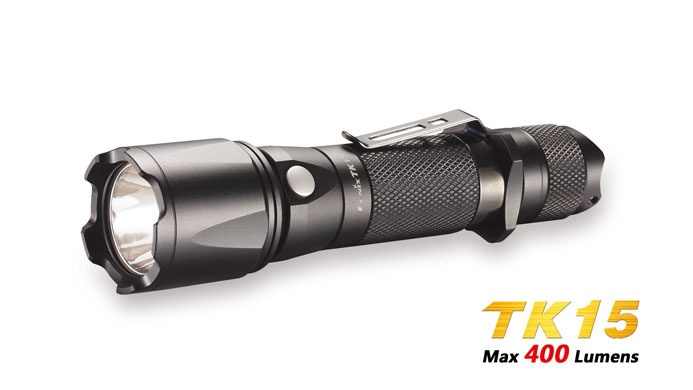 New Fenix TK15 Tactical Flashlight CREE XP G S2 LED w Strobe 400 Lumens | eBay