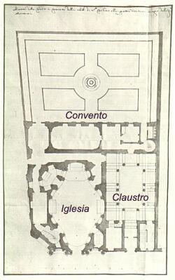 Planta de la  IGLESIA DE SAN CARLO DE LAS CUATRO FUENTES - Roma (Italia) Arquitecto: Francesco Borromini