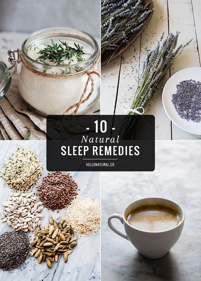 10 Natural Sleeping Remedies