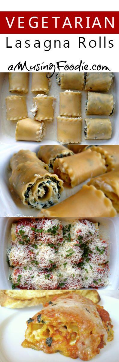 Vegetarian Lasagna Rolls
