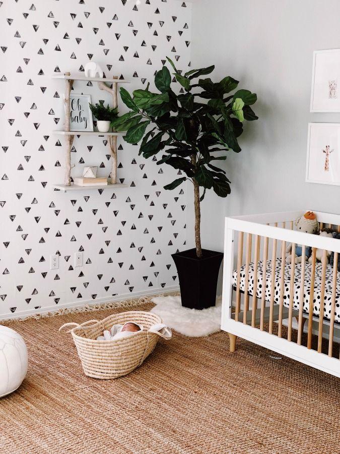 Baby Saxon Finn S Modern Nursery Nursery Wallpaper Boy Removable Wallpaper Nursery Baby Room Decor
