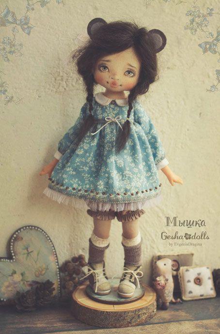 Мышка - GeshaDolls-авторские куклы Евгении Драгиной