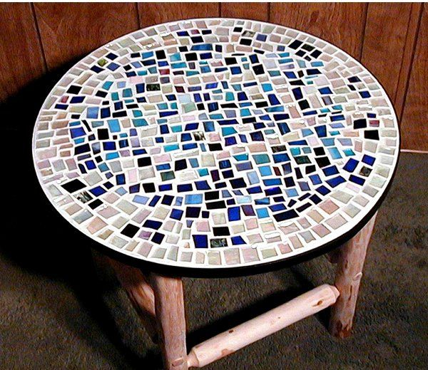 Simple mosaic patterns simple mosaic table shelia for Table design patterns