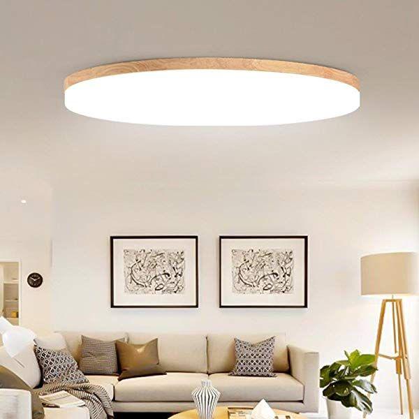 Deckenleuchte Aus Holz Ultra Dunnen Wohnzimmer Lampe Runden Hause Einfache Eiche Deckenleuchte Schlafz Beleuchtung Wohnzimmer Decke Lampen Wohnzimmer Led Decke