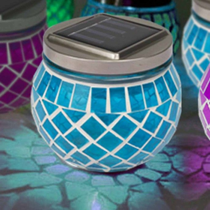 MOSAIC JAR SOLAR LANTERNS   Solar Lights   Garden   Outdoor   Poundstretcher. 21 best images about Light Your Garden For Less on Pinterest