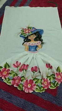 Pintura em tecido por Monica Paes