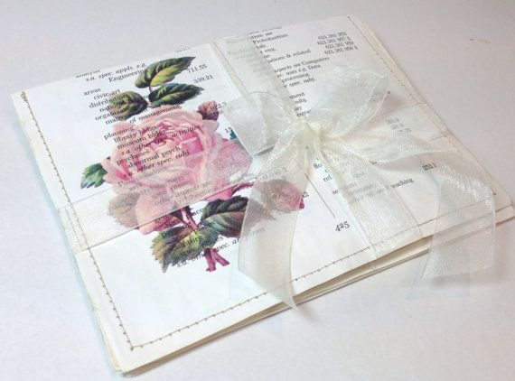 Vintage Rose Upcycle Stationery Set  Paper by LaVieBoeretroos