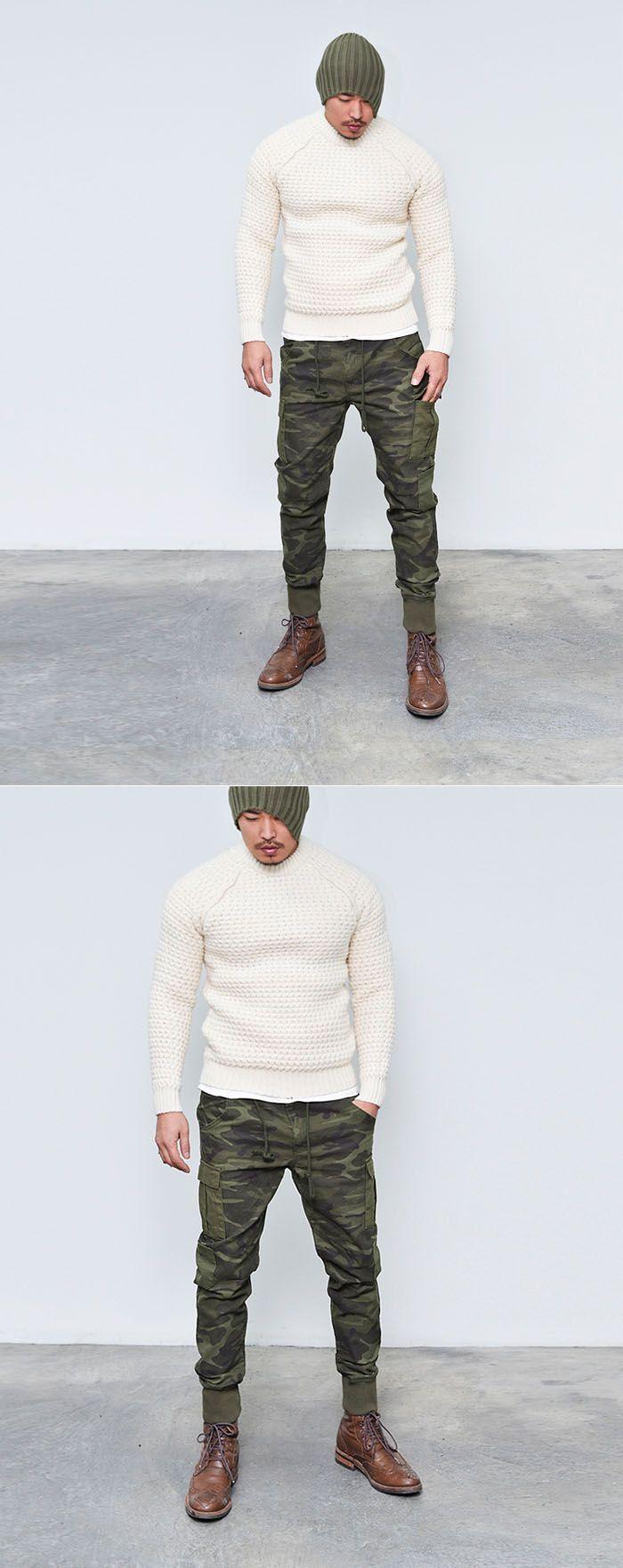 Must-have Camouflage Cargo Drop Jogger-Pants 153 - GUYLOOK