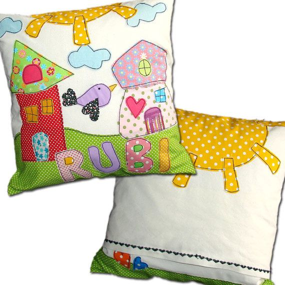 Personalized kids pillow  soft kids pillow  by DreamsGuardian, $40.00