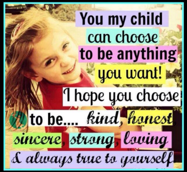Words every child should hear!