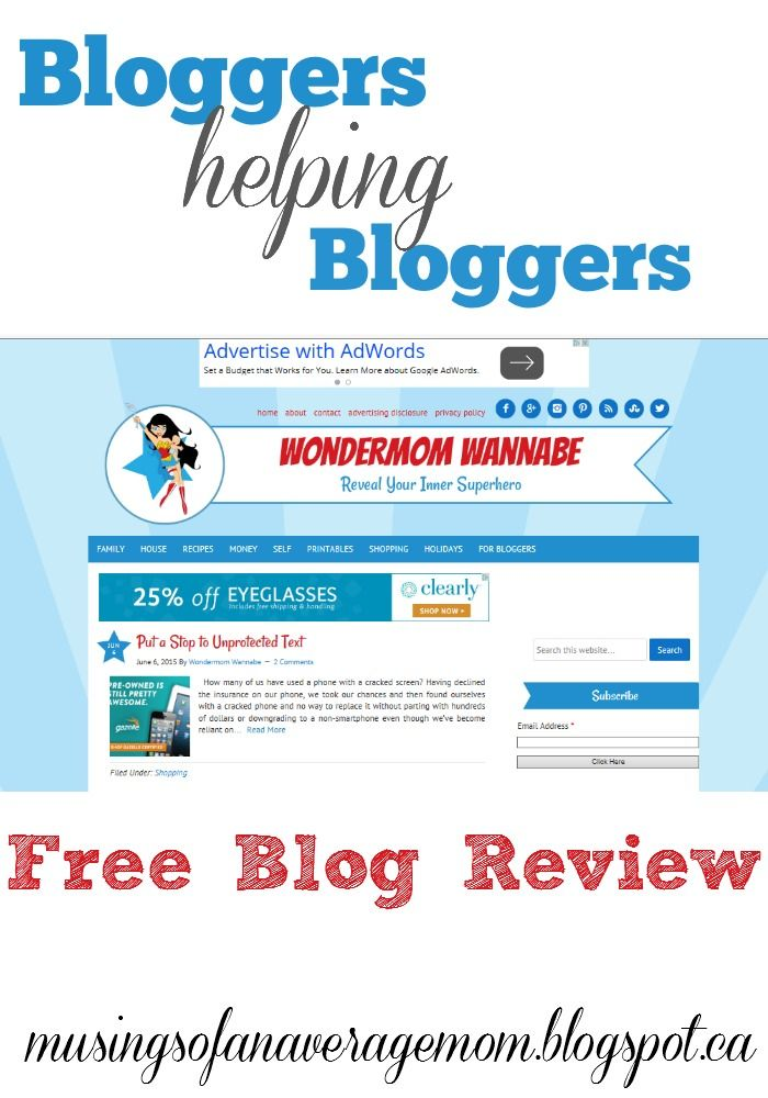 Musings of an Average Mom: Wondermom Wannabe: Blog Review