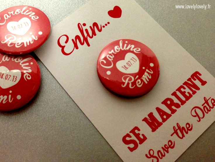 Badge Save the date #mariage #wedding