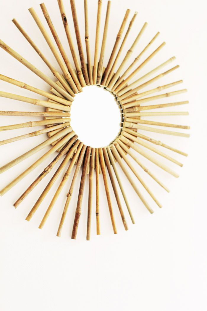 DIY Bamboo Mirror Frame at Design*Sponge