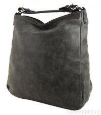 Velká kabelka z broušené kůže TH2015 šedá