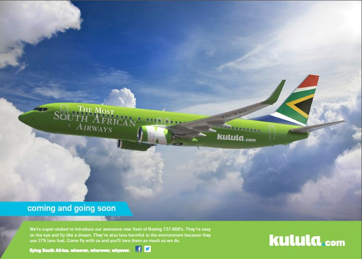 "Kulula's ""Most South African Airways"" plane"