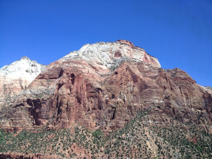 Zion canyon in a state of Utah in spring time