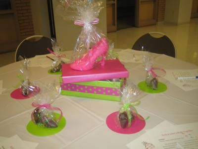 perfect pair perfect fit shoe theme bridal shower table decorations