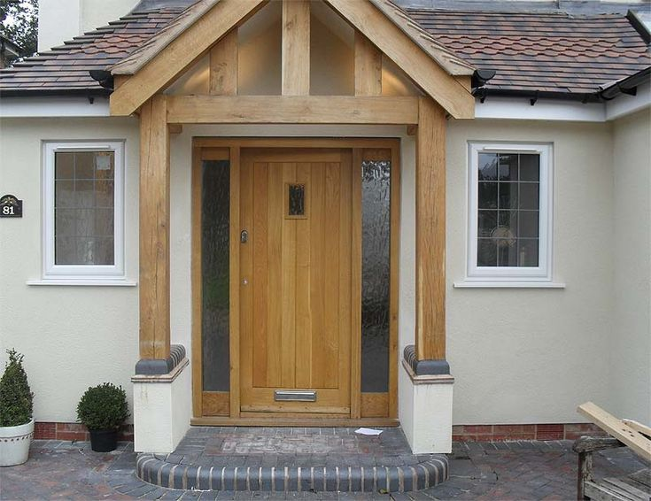oak door canopy - Google Search