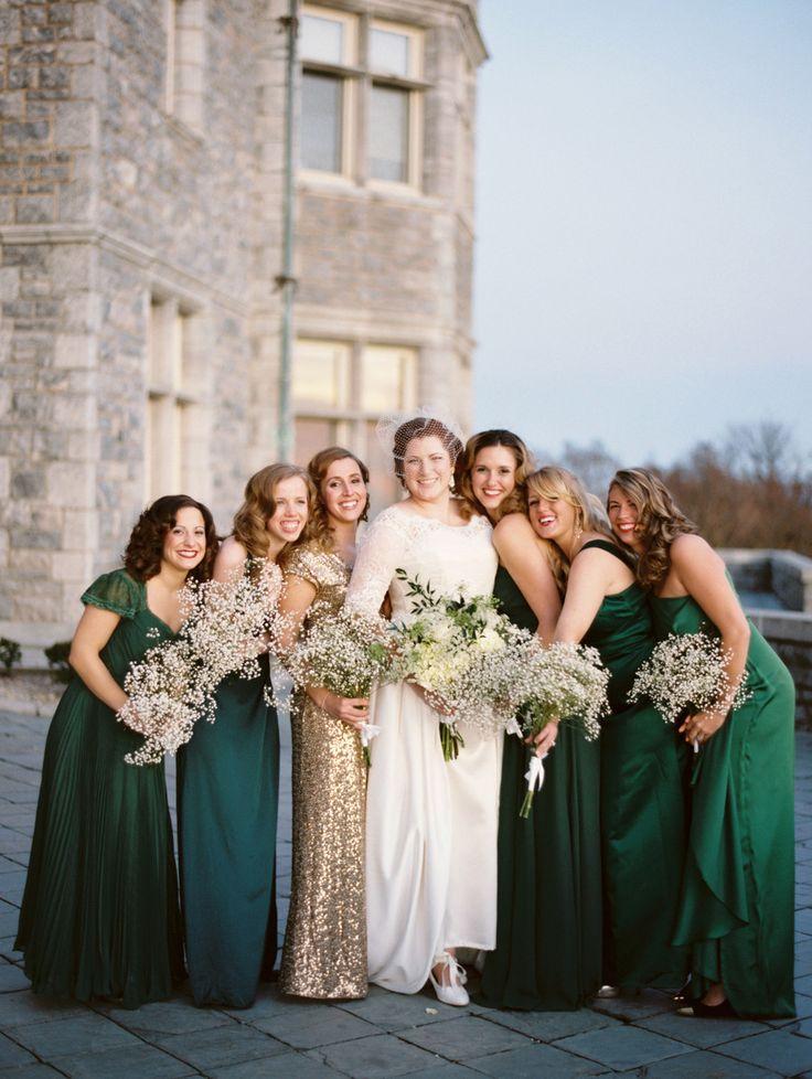 6391a5e97f4c9f0e5841eb15bf76cd4c gold bridesmaid dresses green bridesmaids