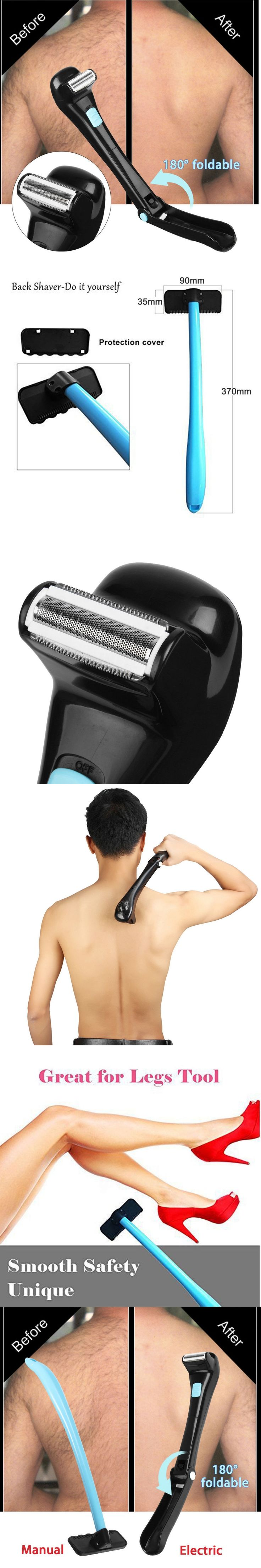 Best 25 back shaver ideas on pinterest body shaver unique electric manual do it yourself back shaver remover shaving pro body hairtrimmer long handle solutioingenieria Gallery