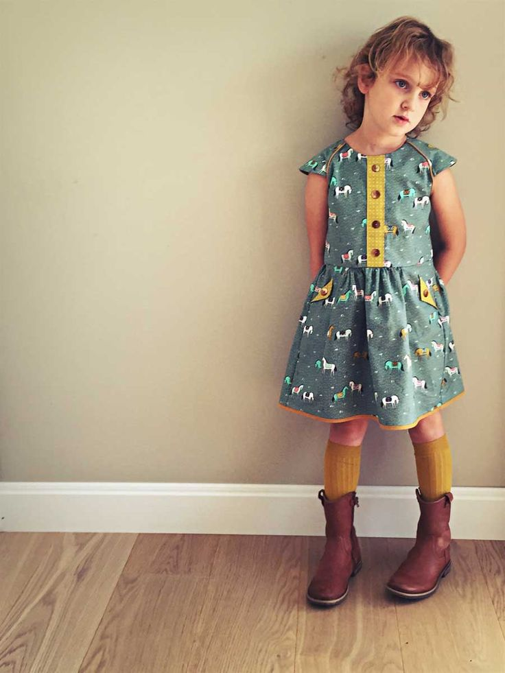 Indian Summer, Lately, my big little one is into horses. She wants horses on every dress I made and so I found this beautiful fabric that was very much alligned with...  #contest2015 #ileanadress #Lotta #mix&match