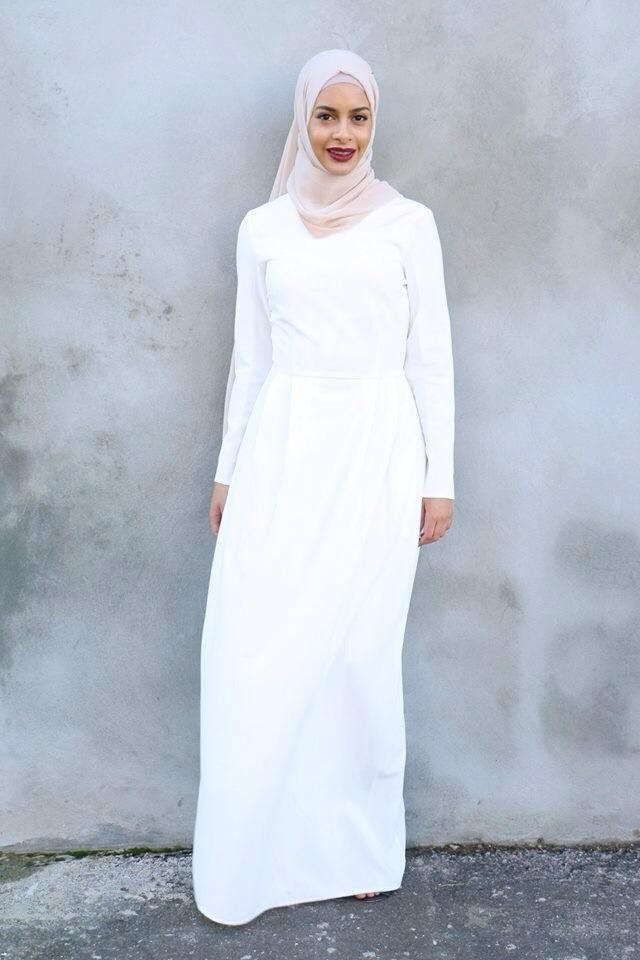 superb white hijab outfit pictures