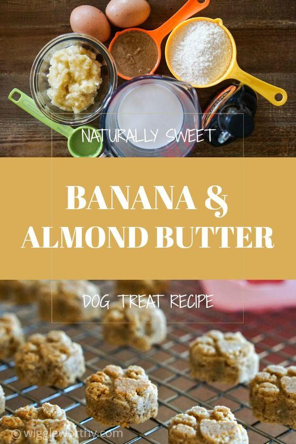 Banana Almond Dog Treat Recipe Dog Treat Recipes Dog Biscuit