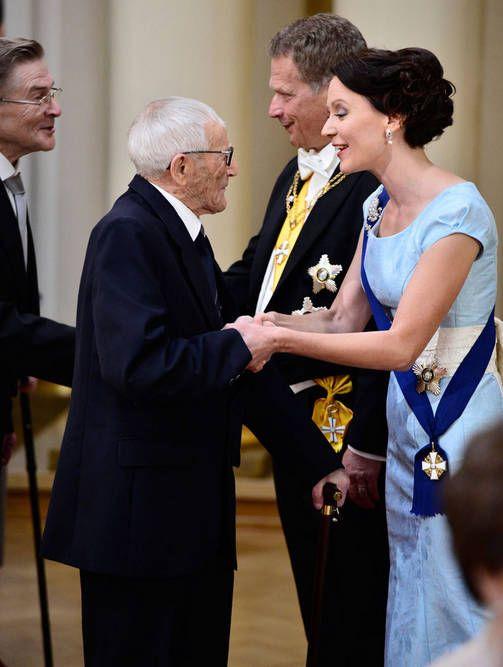 101- vuotias sotaveteraani Hannes Hynönen (k. 30.11.15), 6.12.2014