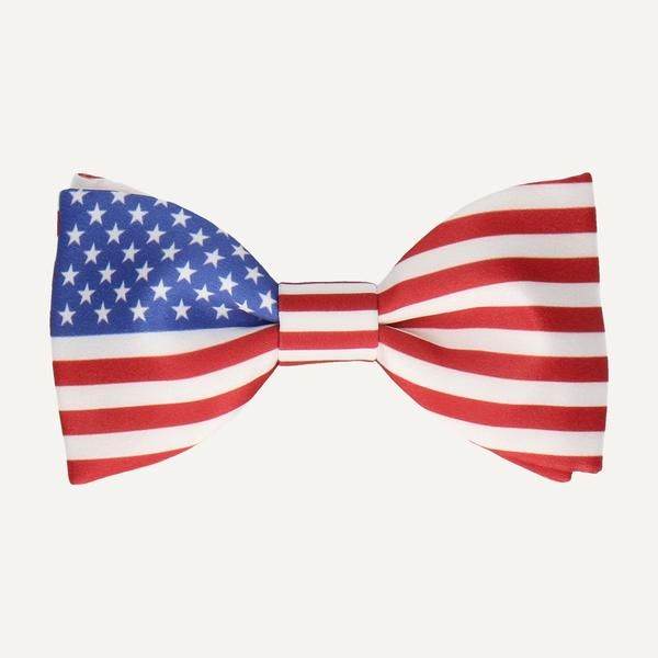UNITED STATES (USA) FLAG BOW TIE