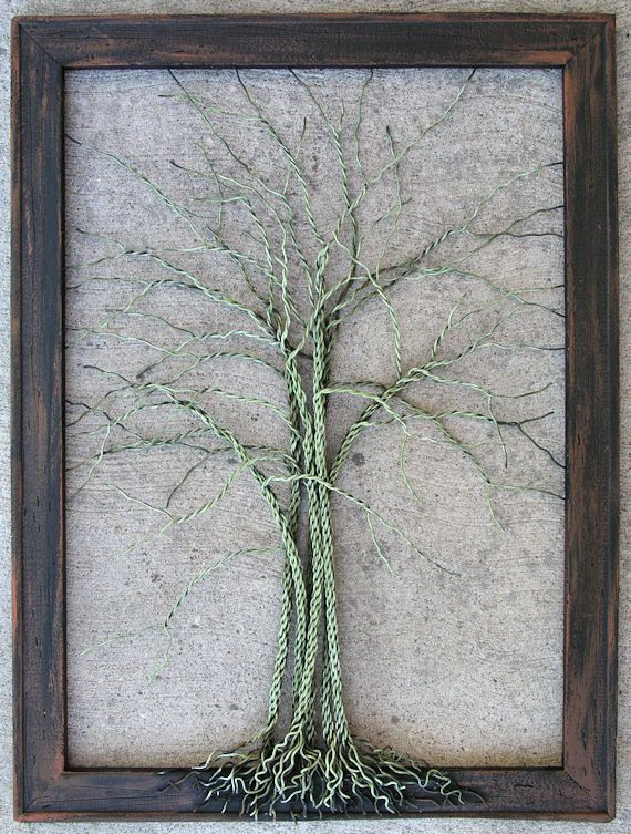 Original Large Tree Abstract Sculpture Painting  by Amy Giacomelli, $199.00