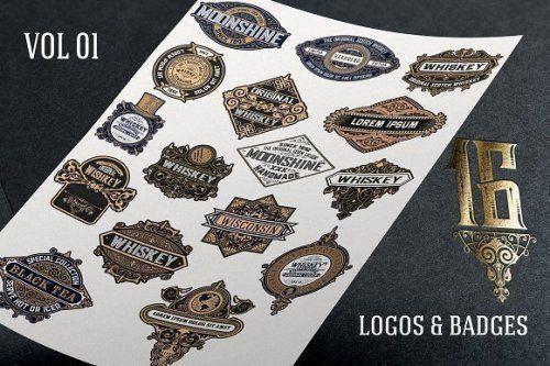 designeour:    16 Vintage logos & badges by...