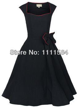 free shipping 50er ROCKABILLY Petticoat KLEID 48 50 Polka Dots Schwarz  Pin Up Retro emo