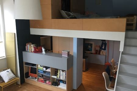 Check out this awesome listing on Airbnb: Double height loft style flat - Flats for Rent in London