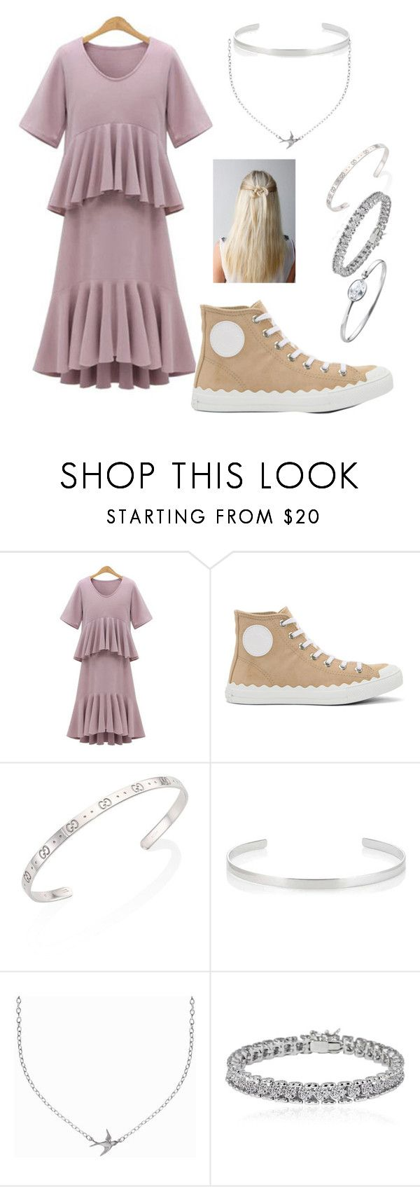 """Understated Boho"" by junoblu ❤ liked on Polyvore featuring Chloé, Gucci, Jennifer Fisher, Minnie Grace, Apples & Figs, Georg Jensen and modern"