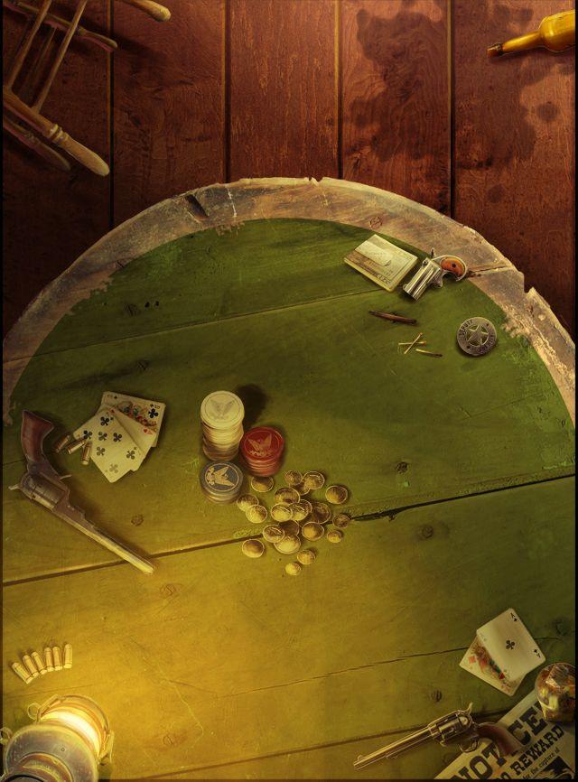 Gunslinger's Saloon Poker Table (BBP)