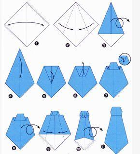diy papieren stropdas vouwen handleiding