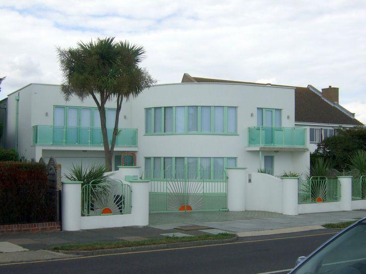 79 best images about streamline moderne terrace screen for Streamline moderne house plans