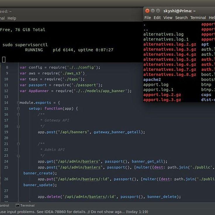 i'm dummies programmer. i have no weekend  #dummies #programming #coding #code #nodejs #expressjs #supervisor #linux #debian #live #serverlife