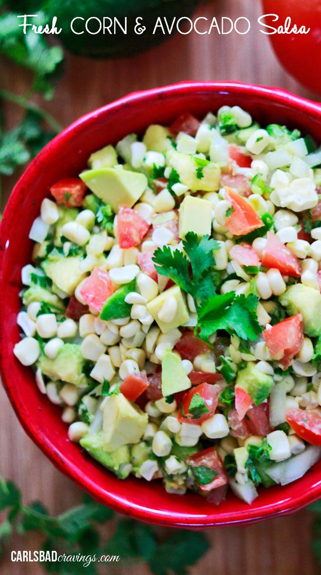 ... Corn And Avocado Salsa, Corn Salsa, Avocado Corn, Easy Fresh, Corn