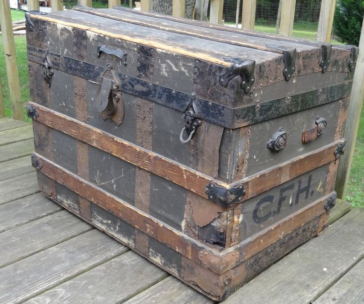 Rare Antique Steam Trunk Adams Express Co Label Frm