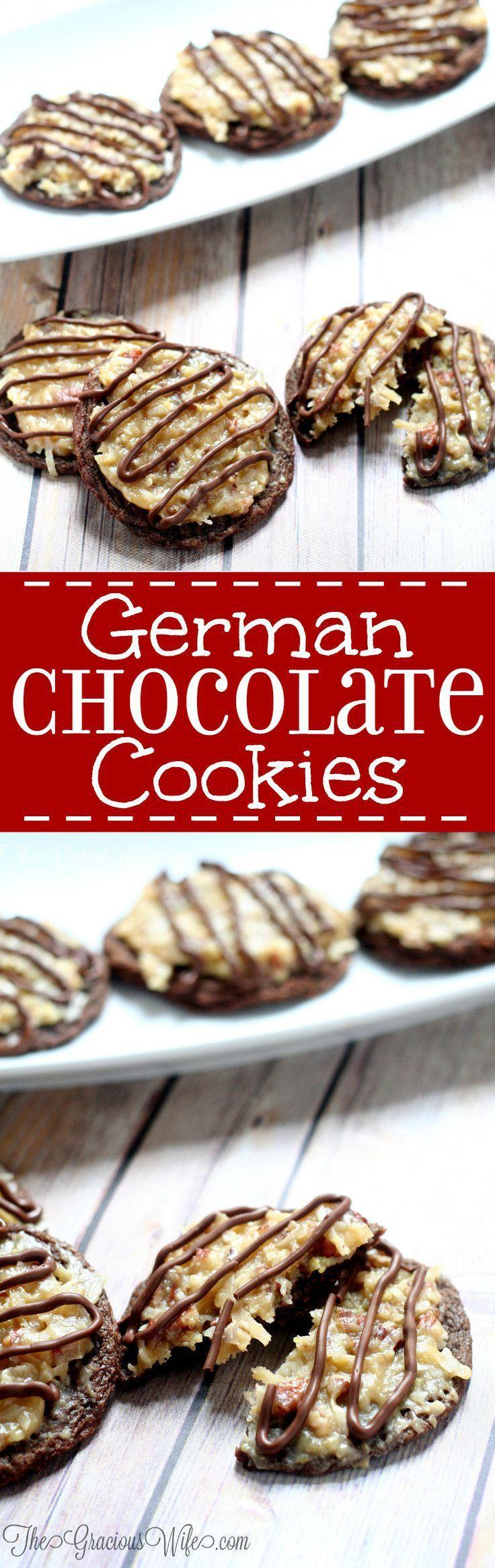 German chocolate cake cookie recipe