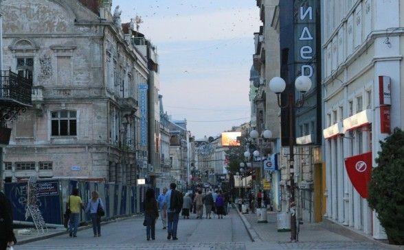 Rousse bulgaria shopping street