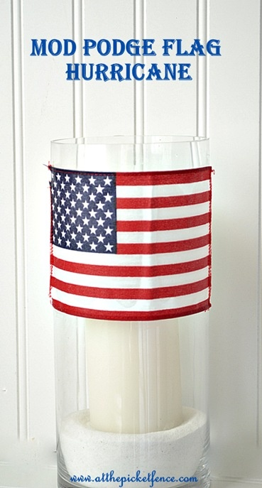 Mod Podge Flag Hurricane, 4th of July Flag Hurricane, 4th of July