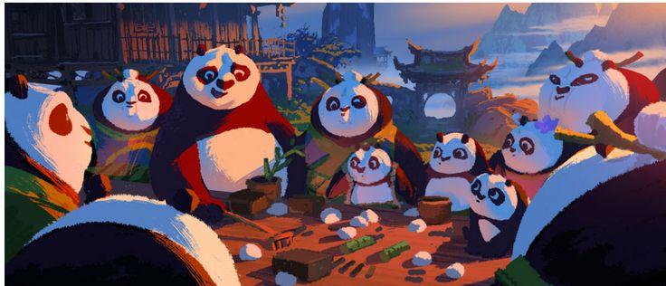Artes do filme Kung Fu Panda 3, por Maxwell Boas | THECAB - The Concept Art Blog